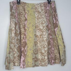 16 Sigrid Olsen Floral Lined Skirt Full Skater O